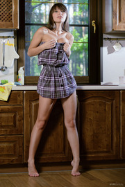 Adel B Strips In The Kitchen