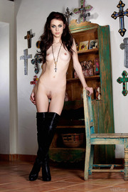 Jessica Dawn Perky Breasts In Black Lace