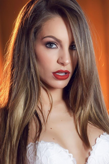 Kimmy Granger Strips Off Her Sexy White Lace Lingerie