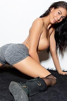 Heather Vahn In Stockings