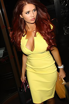 Amy Childs Looks Stunning In A Yellow Dress