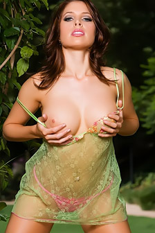 Big Tits Model Erika Jordan Nude Outdoors