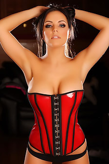 Aimi Teases With Her Perfect Body In A Tight Corset