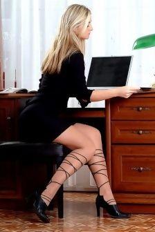 Blonde Babe In Hot Pantyhose