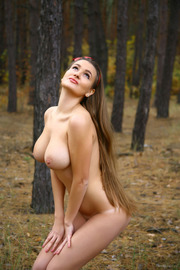Busty Sanya Naked In The Forest