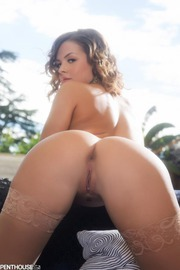 Keisha Grey Plays With Her Shaved Pussy