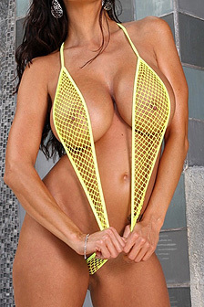 Ava Addams In Fishnet Swimsuit